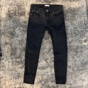 Zara faded black jeans